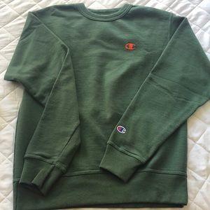 Champion Army Green Crewneck Sweatshirt